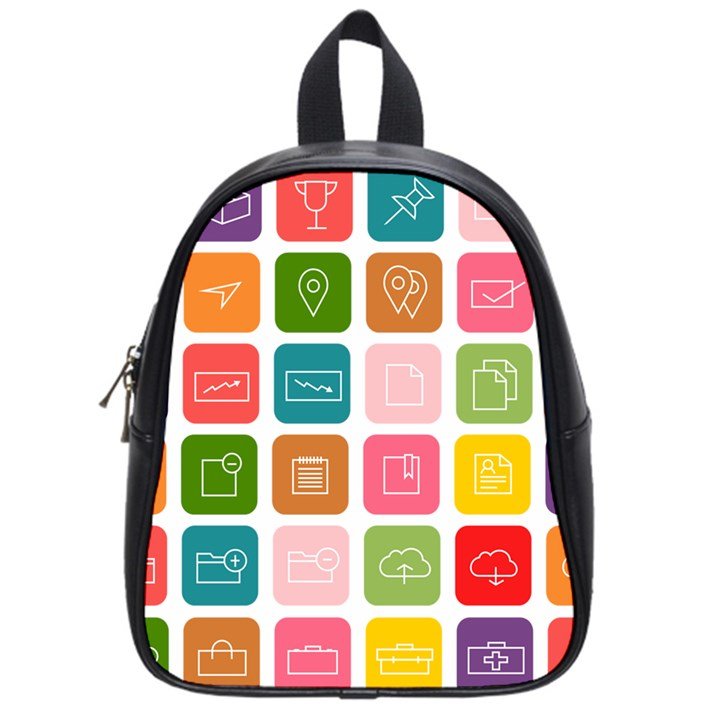 Icons Vector School Bags (Small)