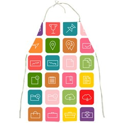 Icons Vector Full Print Aprons