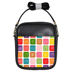 Icons Vector Girls Sling Bags