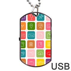 Icons Vector Dog Tag USB Flash (Two Sides)