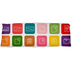 Icons Vector Body Pillow Case (dakimakura)