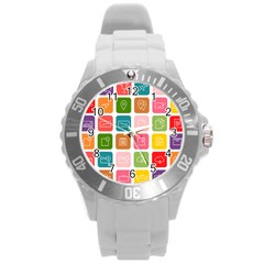 Icons Vector Round Plastic Sport Watch (L)