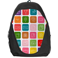 Icons Vector Backpack Bag