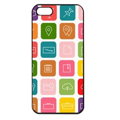 Icons Vector Apple iPhone 5 Seamless Case (Black)