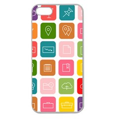 Icons Vector Apple Seamless iPhone 5 Case (Clear)