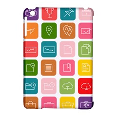 Icons Vector Apple iPad Mini Hardshell Case (Compatible with Smart Cover)