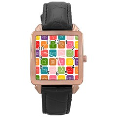 Icons Vector Rose Gold Leather Watch