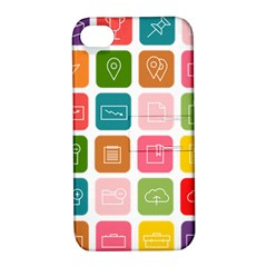 Icons Vector Apple iPhone 4/4S Hardshell Case with Stand