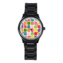 Icons Vector Stainless Steel Round Watch
