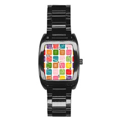 Icons Vector Stainless Steel Barrel Watch