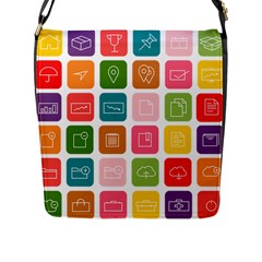 Icons Vector Flap Messenger Bag (L)