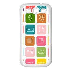 Icons Vector Samsung Galaxy S3 Back Case (white)
