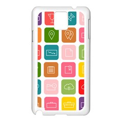 Icons Vector Samsung Galaxy Note 3 N9005 Case (white)