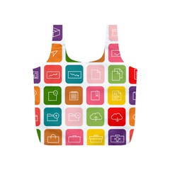 Icons Vector Full Print Recycle Bags (S)