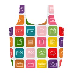 Icons Vector Full Print Recycle Bags (L)
