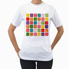 Icons Vector Women s T-Shirt (White)