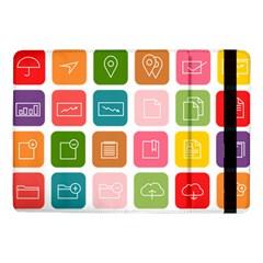 Icons Vector Samsung Galaxy Tab Pro 10.1  Flip Case
