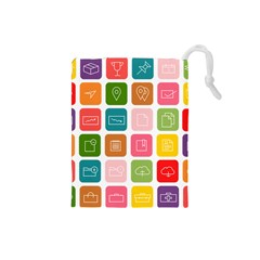 Icons Vector Drawstring Pouches (Small)