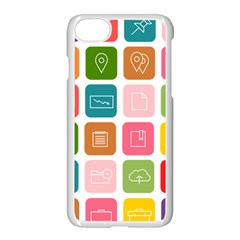 Icons Vector Apple Iphone 7 Seamless Case (white)