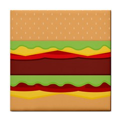 Vector Burger Time Background Tile Coasters