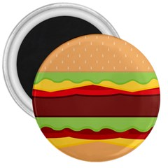Vector Burger Time Background 3  Magnets