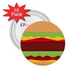 Vector Burger Time Background 2 25  Buttons (10 Pack)