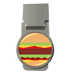 Vector Burger Time Background Money Clips (Round)