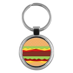 Vector Burger Time Background Key Chains (round)