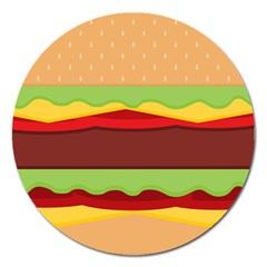 Vector Burger Time Background Magnet 5  (round)