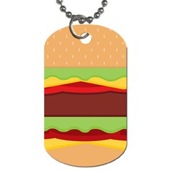 Vector Burger Time Background Dog Tag (two Sides)