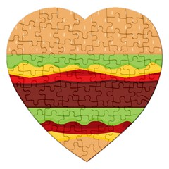 Vector Burger Time Background Jigsaw Puzzle (heart)