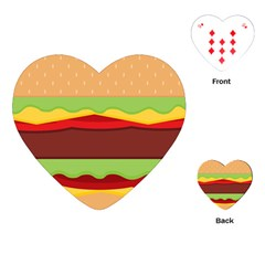 Vector Burger Time Background Playing Cards (heart)