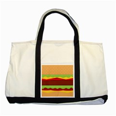 Vector Burger Time Background Two Tone Tote Bag