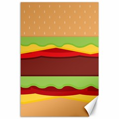 Vector Burger Time Background Canvas 12  X 18