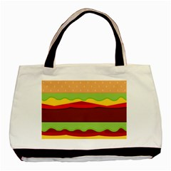 Vector Burger Time Background Basic Tote Bag (two Sides)