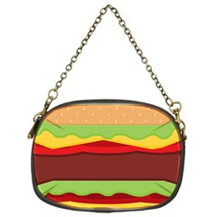 Vector Burger Time Background Chain Purses (one Side)