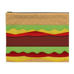Vector Burger Time Background Cosmetic Bag (xl)