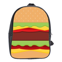 Vector Burger Time Background School Bags(large)