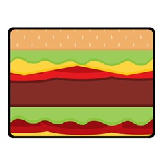 Vector Burger Time Background Fleece Blanket (Small)