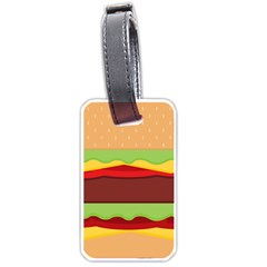 Vector Burger Time Background Luggage Tags (one Side)