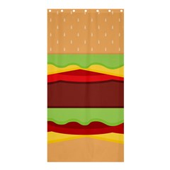 Vector Burger Time Background Shower Curtain 36  x 72  (Stall)