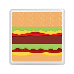 Vector Burger Time Background Memory Card Reader (square)