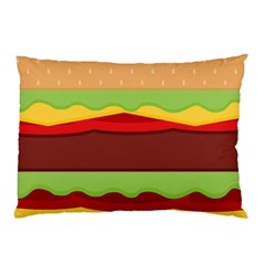 Vector Burger Time Background Pillow Case (two Sides)