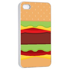 Vector Burger Time Background Apple Iphone 4/4s Seamless Case (white)