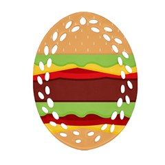 Vector Burger Time Background Ornament (oval Filigree)