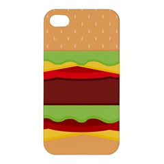 Vector Burger Time Background Apple iPhone 4/4S Hardshell Case