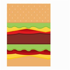 Vector Burger Time Background Small Garden Flag (Two Sides)