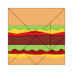 Vector Burger Time Background Acrylic Tangram Puzzle (6  x 6 )