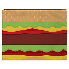Vector Burger Time Background Cosmetic Bag (XXXL)