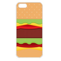 Vector Burger Time Background Apple iPhone 5 Seamless Case (White)